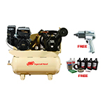 Ingersoll Rand 2475F14GTS - 14HP Air Compressor with Free Air Impact Wrench & Start Up Kit