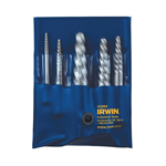 Irwin-Hanson 53535 - 5 PC Spiral Flute Screw Extractor Set - EX-1 thru EX-5