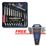 GearWrench 9620P - 12pc. Metric Rev. Combo Ratcheting GearWrench Set w/FREE 4pc. Metric Rev. Combo Ratcheting Set