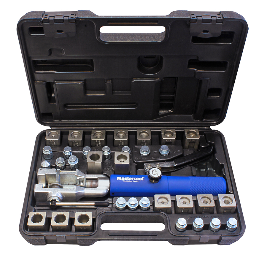 Mastercool 72485 - Complete Universal Hydraulic Flaring Tool Set (Includes  GM Transmission Cooling Line 3/8