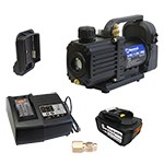 "Mastercool 90058-AUT - 18V Cordless 1.5 CFM / 2-Stage Complete Vacuum Pump Kit for Automotive (1/4"" SAE Port & 1/2"" ACME Adapter)"