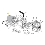 Mastercool 90060-001 - Motor for Mastercool Vacuum Pumps -110-220V - 1/6 HP