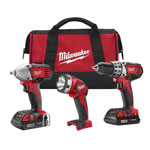 "Milwaukee 2691-23 - 18V 3/8"" Drill DR/Impact 3-PC Combo Kit"