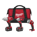 Milwaukee 2696-23 - M18™ Cordless LITHIUM-ION 3-PC Tool Combo Kit