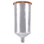 Astro Pneumatic PCU3501S - Aluminum Gravity Feed Cup with Screw-on Lid - 1 Liter Capacity