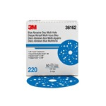 3M Automotive 36162 - 3M Hookit Blue Abrasive Disc Multi-hole, 36162