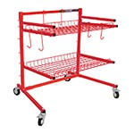 ATD Tools 6568 - 2-Shelf Parts Storage Cart (400 Lbs. Capacity)