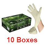 Atlantic Safety K321-S - Small InTouch White Powder-Free Latex Gloves - 1 Case (10 box x 100)
