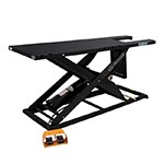K&L Supply 35-6254 - Black K&L MC615R Air Hydraulic Motorcycle & ATV Scissor Lift