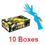 Atlantic Safety LS-M - Medium Lightning Storm Blue Nitrile Gloves - 1 Case (10 box x 50)