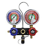 Mastercool 57103 - R410A, R22 and R404A 2-Way Aluminum Manifold Gauge
