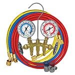 Mastercool 84172 - R134a 2-Way Brass Manifold Gauge Set with 72