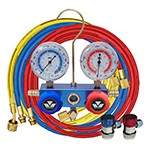 Mastercool 89172 - 2-Way Manifold Gauge Set With Manual Couplers (3 1/8