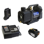 "Mastercool 90058-5A - 18V Cordless 1.5 CFM / 2-Stage Vacuum Pump Complete Kit (1/4"" SAE port)"