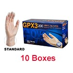 Ammex GPX3D 48100 - Extra Large Powder-Free Vinyl Gloves (10 box x 200)