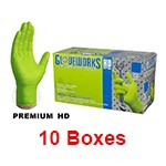 Ammex GWGN 48100 - Extra Large Gloveworks HD 8mil Green Nitrile Gloves (10 box x 100)