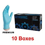 Ammex IN 42100 - Small Gloveworks Powdered Nitrile Gloves  (10 box x 100)
