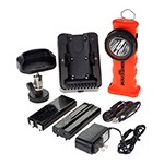 NightStick XPR-5572RM - Rechargeable Red Intrinsically Safe Dual-Light Angle Light with Magnetic Base