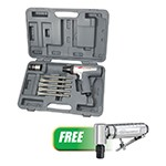 Ingersoll Rand 122MAXK-301B - Short Barrel Air Hammer Kit with FREE Angle Air Die Grinder