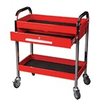 K Tool International 75105 - Steel Service Tool Cart with 1 Drawer and 2 Shelfs