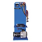 Mastercool 91688 - Mobile Electronic Charging Station with 7.5 CFM Vacuum Pump & 4-Way Manifold Gauge
