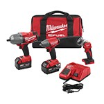 Milwaukee 2896-23 - M18 FUEL Cordless Impact Wrench & Work Light 3-Tool Combo Kit