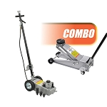 OTC Tools 1788BL - 22-Ton Capacity Under-Axle Jack and Two Speed 3-1/2 Ton Service Jack Combo