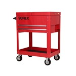 Sunex Tools 8035R - Compact Slide Top Utility Cart - Red