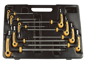 Astro Pneumatic 1023 - 9 Piece T-4 Handle Tamper Star and Key Wrench Set