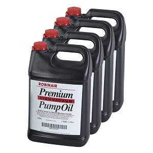 Robinair 13204 - Premium High Vacuum Pump Oil (4 Jugs)