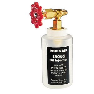 "Robinair 18065 - R12 Refrigerant Oil Injector with 1/4"" SAE Fitting"