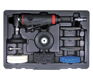 "Astro Pneumatic 226 - ONYX Complete Surface Prep Kit with Composite Body 1/4"" 90 Degree Angle Die Grinder and Surface Prep Pads"