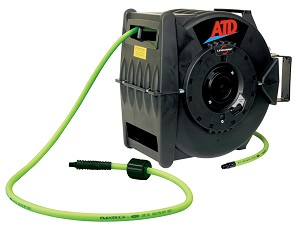 "ATD Tools 31163 - Levelwind Retractable Air Hose Reel With 3/8"" X 60 Flexzilla Hose"