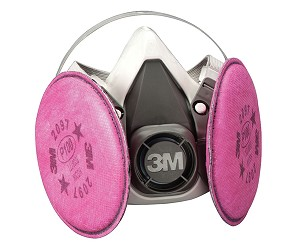3M Automotive 7183 - 3M Half Facepiece Respirator Packout with 3M Particulate Filters - Large