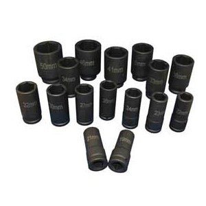 ATD Tools 6406 - 16 pc. 3/4 Dr. Deep Metric Impact Socket Set