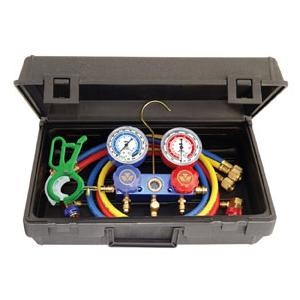Mastercool  89660-PRO5 - Professional R134a Manifold Gauge Set with Free 3-IN-1 Side Mount Can Tap Valve