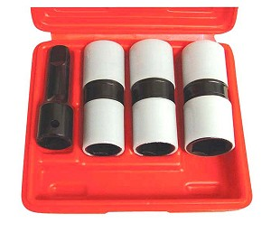"Astro Pneumatic 78803 - 4 Piece 1/2"" Drive Thin Wall Flip Impact Socket Set with Protective Sleeves"