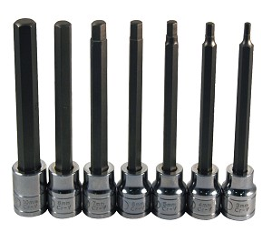 ATD Tools 13787 - 7 Pc. Extra Long Metric Hex Bit Socket Set