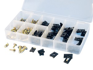 ATD Tools 348 - 170 Pc. U-Clip and Round Head Tapping Screw Assortment
