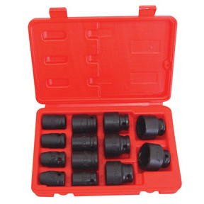 "ATD Tools 4202 - 13 Pc. 1/2"" Drive 6 Point SAE Standard Impact Socket Set"