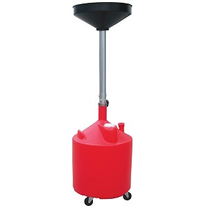 ATD Tools 5188 - 18 Gallon Plastic Waste Oil Drain with Casters