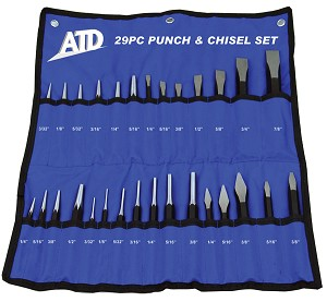 ATD Tools 729 - 29 pc. Punch & Chisel Set
