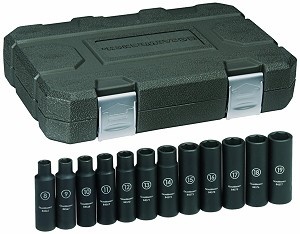 "GearWrench 84944 - 12 Piece 1/2"" Drive 6 Point Metric Deep Impact Socket Set"