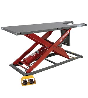 K&L Supply 35-6294 - Red/Grey K&L MC615R Air Hydraulic Motorcycle & ATV Scissor Lift